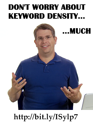 &quot;Much&quot; Cutts on Keyword Density