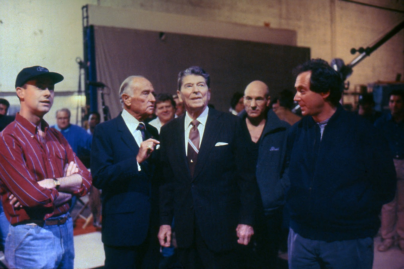 Ronald Reagan Visiting The Set of Star Trek: TNG. Your Argument is Invalid!